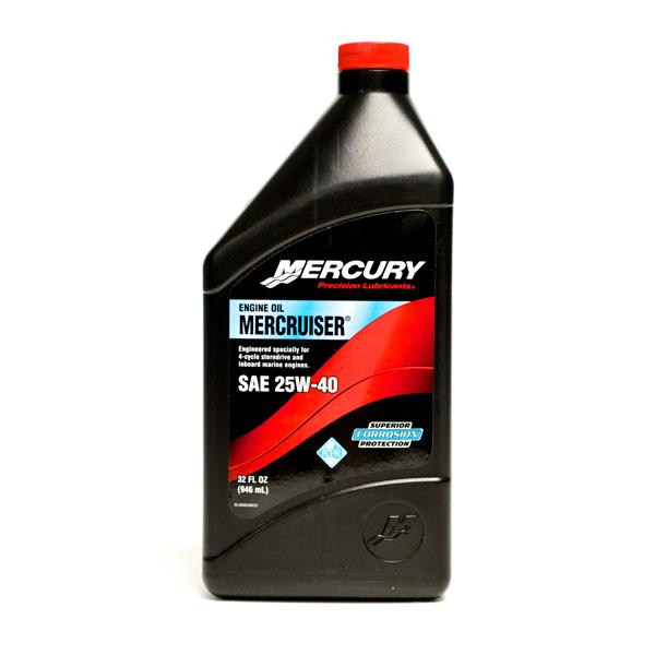 Mercury MerCruiser SAE 25W-40 946ml Engine Oil