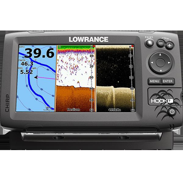 Lowrance Hook2 – 7 TripleShot Fishfinder-Chartplotter